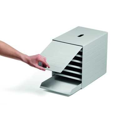 IDEALBOX PLUS A4 pojemnik z 7 szufladami z osłoną, szary DURABLE