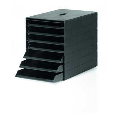 IDEALBOX PLUS A4 pojemnik z 7 szufladami z osłoną, czarny DURABLE