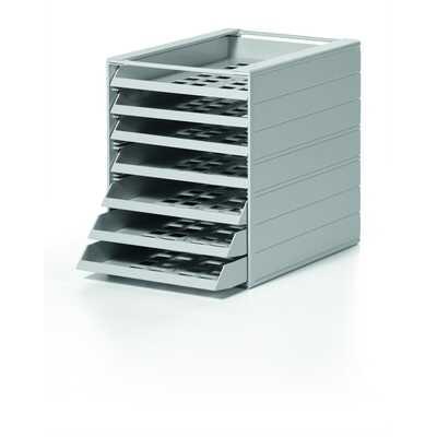 IDEALBOX BASIC 7 A4 pojemnik z 7 szufladami do montażu, szary DURABLE