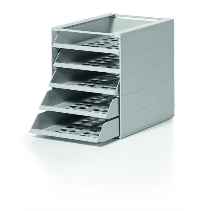 IDEALBOX BASIC 5 A4 pojemnik z 5 szufladami do montażu, szary DURABLE