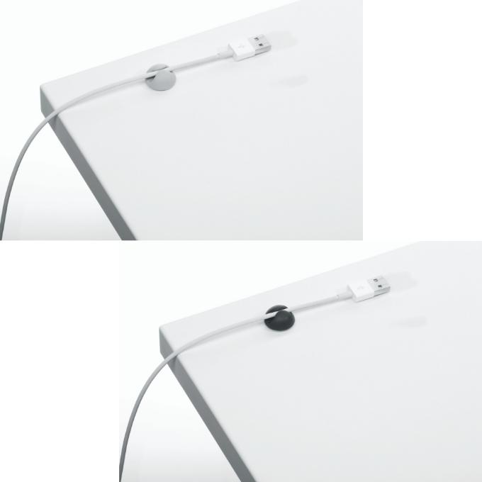 Samoprzylepne klipsy na 1 kabel CAVOLINE CLIP DURABLE,  6 sztuk