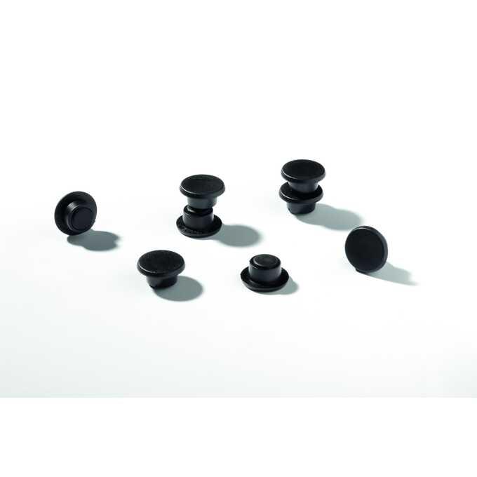 Magnesy do tablic DURABLE Ø 15 mm, 20 sztuk - Kolor: czarny