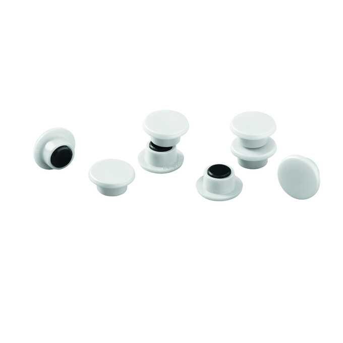Magnesy do tablic DURABLE Ø 15 mm, 20 sztuk - Kolor: biały