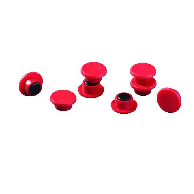 Magnesy do tablic DURABLE Ø 15 mm, 20 sztuk - Kolor: czerwony