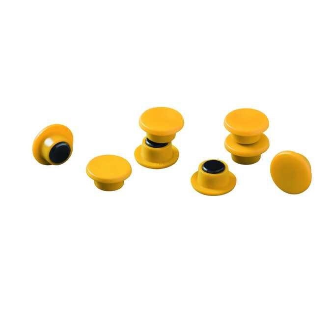 Magnesy do tablic DURABLE Ø 15 mm, 20 sztuk - Kolor: żółty
