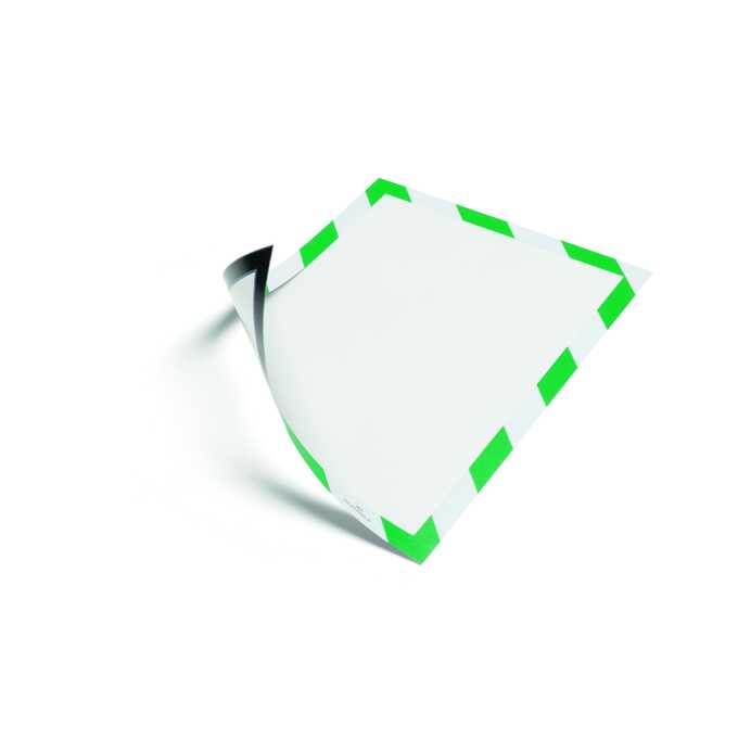 Ramka ostrzegawcza magnetyczna A4 DURAFRAME SECURITY DURABLE, 5 sztuk - Kolor: zielony/biały