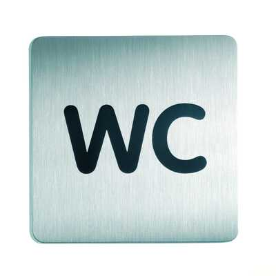 Tabliczka 150x150 mm symbol: WC  DURABLE