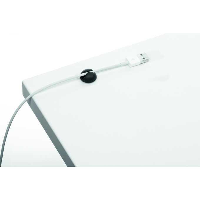 Samoprzylepne klipsy na 1 kabel CAVOLINE CLIP DURABLE,  6 sztuk - Kolor: grafitowy