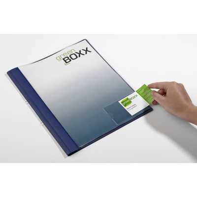 Kieszeń 90x57 mm na wizytówki,otwarta z boku,samoprzylepna opk.100 szt. bez etykiet POCKETFIX  DURABLE