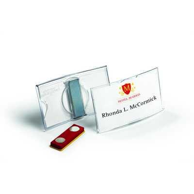 Identyfikator z akrylu z magnesem 40x75 mm