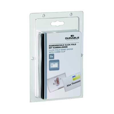 CLICK FOLD identyfikator 54x90 mm z kombi-klipem (jak 8214 tylko mniejsze opakowania)