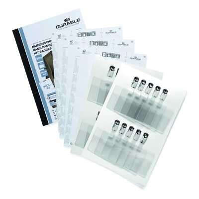 Zestaw identyfikatorów 60 x 90 mm z klipem