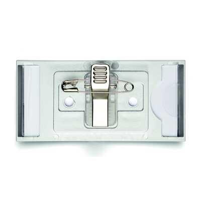 CLASSIC, identyfikator z kombi-klipem 30 x 65 mm