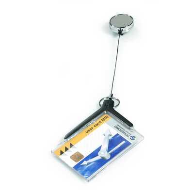 Etui do kart identyfikacyjnych z mechanizmem ściągającym opk.10 szt, CARDHOLDER DE LUXE PRO DURABLE