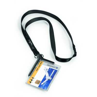 Etui do kart identyfikacyjnych z taśmą tekstylną CARD HOLDER DE LUXE DURABLE