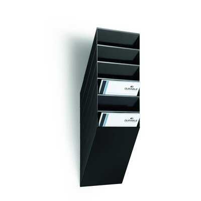FLEXIBOXX A4 6 pionowych pojemników na dokumenty, kolor czarny DURABLE