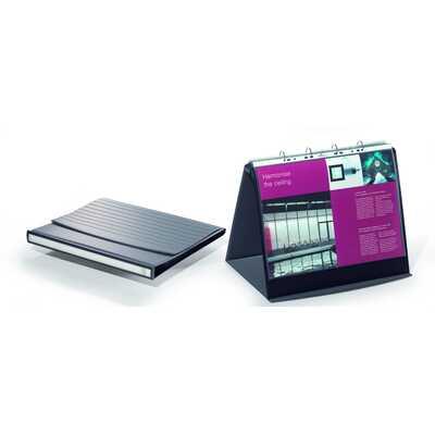 Flipchart stołowy A3 poziomy 10 kieszeni bazaltowy DURASTAR DURABLE