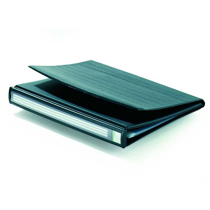 Flipchart stołowy A4 poziomy 10 kieszeni bazaltowy DURASTAR DURABLE