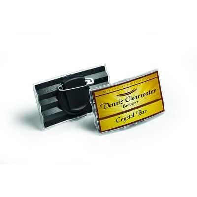Identyfikator 40x75 mm z kombi-klipem