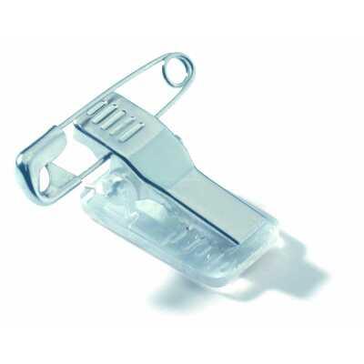 Identyfikator z akrylu 40x75 mm z kombi-klipem