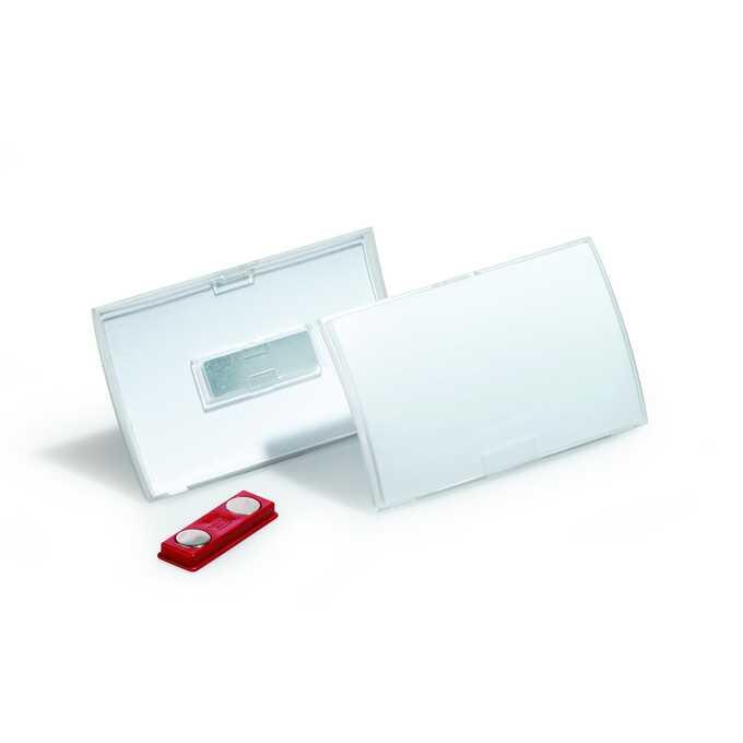 Identyfikatory imienne z magnesem CLICK FOLD, 54x90 mm, Durable (10 sztuk)