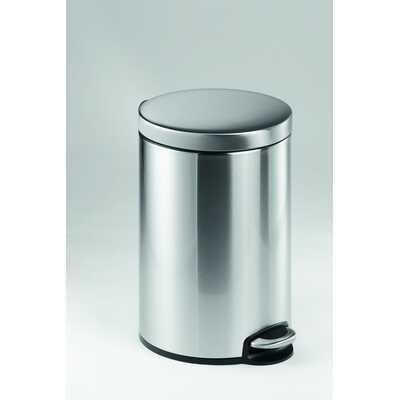 Kosz na śmieci z pedałem stainless steel 12 DURABLE