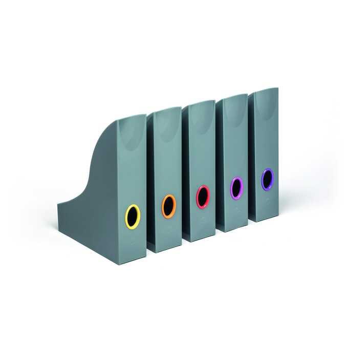 Pojemniki na katalogi z kolorowymi grzbietami VARICOLOR DURABLE, 5 sztuk