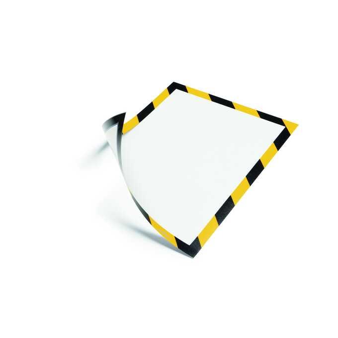 Ramka magnetyczna DURAFRAME MAGNETIC A4 SECURITY DURABLE, ŻÓŁTO-CZARNA
