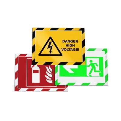 Ramka ostrzegawcza samoprzylepna z podnoszoną przednią stroną magnetyczną DURAFRAME SECURITY A4 DURABLE, 2 sztuki