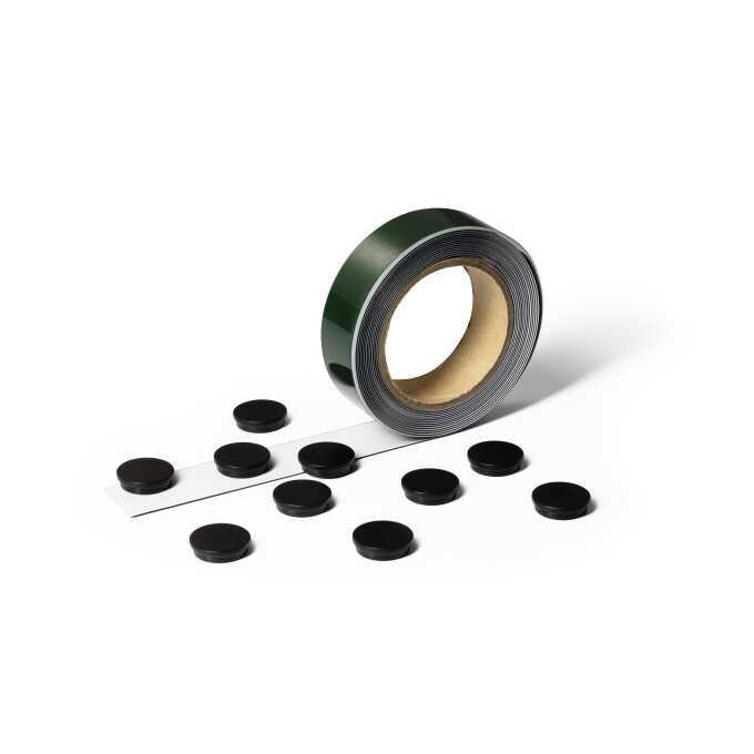Samoprzylepna taśma magnetyczna z 10 magnesami METAL TAPE DURABLE
