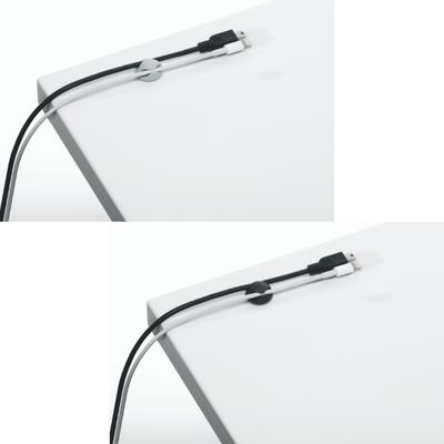 Samoprzylepne klipsy na 2 kable CAVOLINE CLIP DURABLE, 6 sztuk