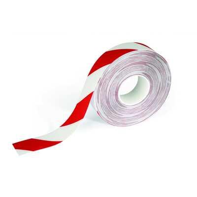 Taśma podłogowa DURALINE STRONG DURABLE, czerwono-biała