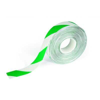 Taśma podłogowa DURALINE STRONG DURABLE, zielono-biała