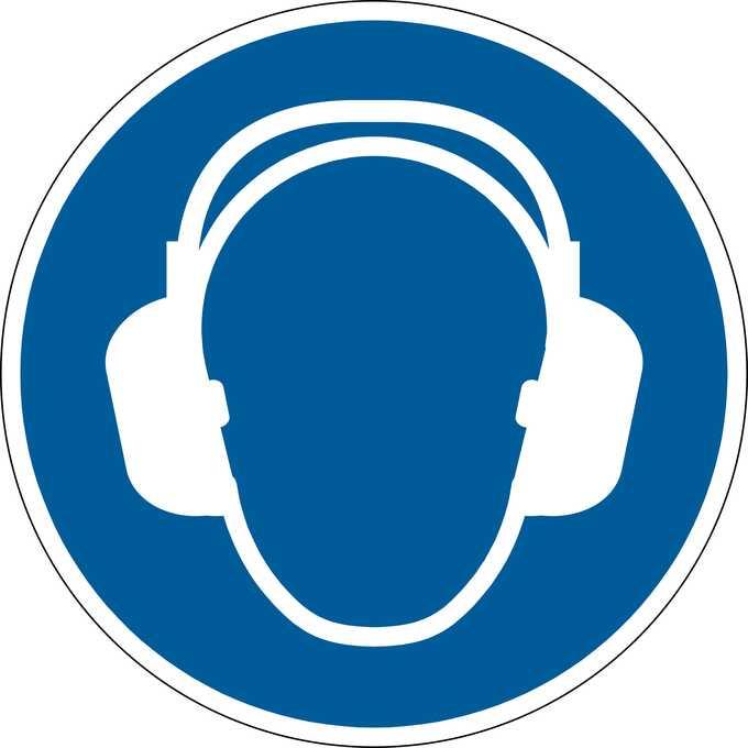 Znak podłogowy DURABLE - ochrona słuchu