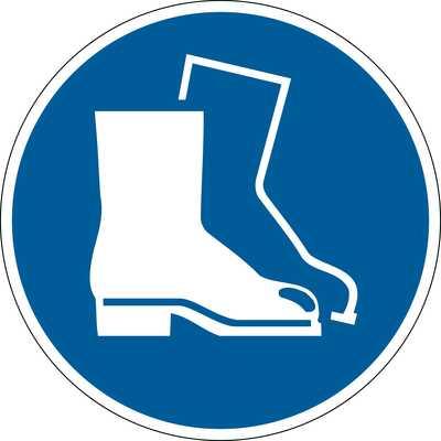 """Znak podłogowy DURABLE - symbol """"Nakaz stosowania ochrony stóp"""""""