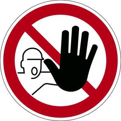 """Znak podłogowy DURABLE - symbol """"Nieupoważnionym wstęp wzbroniony"""""""