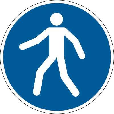 """Znak podłogowy DURABLE - symbol """"Przejście w oznaczonym miejscu"""""""