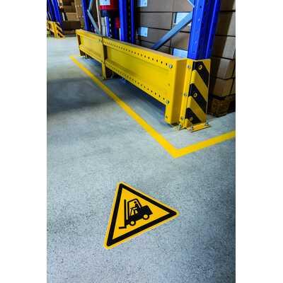 """Znak podłogowy DURABLE - symbol """"Uwaga, urządzenia transportowe"""""""