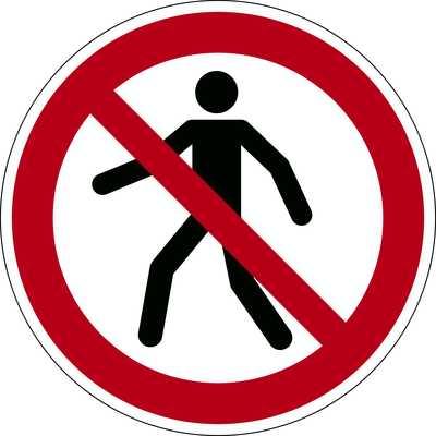 """Znak podłogowy DURABLE - symbol """"Zakaz przejścia"""""""