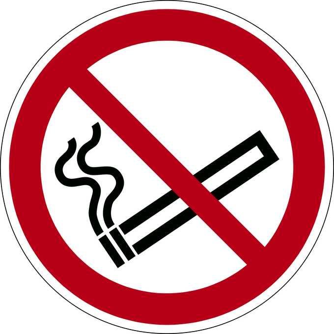 Znak podłogowy Zakaz Palenia