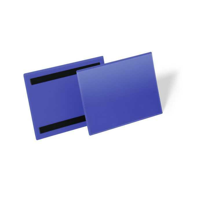 Magnetyczna kieszeń magazynowa A5 pozioma DURABLE - Kolor: granatowy