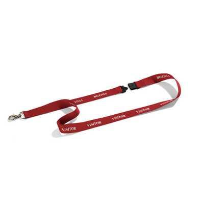 """Taśma tekstylna DURABLE z nadrukiem """"VISITOR"""", 20 mm, czerwona (10 sztuk)"""