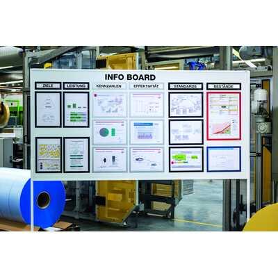 Magnetyczna ramka informacyjna z uchylną przednią stroną, Duraframe A4