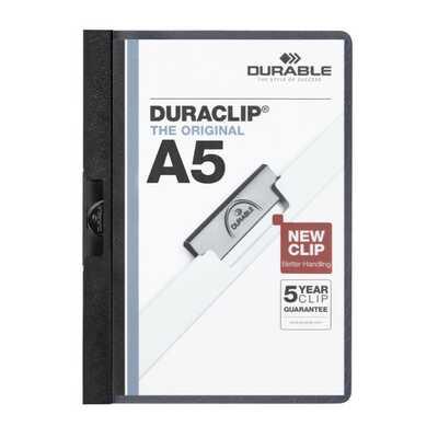 Skoroszyt zaciskowy DURACLIP A5 DURABLE, na 1-30 kartek