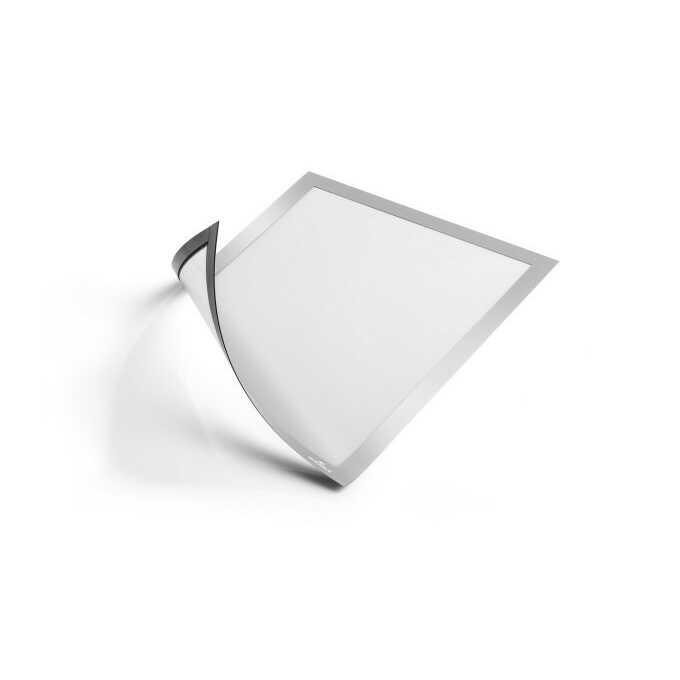 Magnetyczna ramka informacyjna z uchylną przednią stroną, Duraframe A4 - Kolor: srebrny
