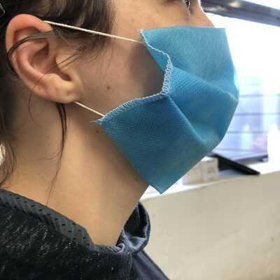 Maseczka ochronna trójwarstwowa CLEAN AIR z włókniny typu Spunbond 100% Polipropylen