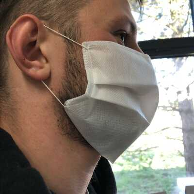 Maseczka ochronna trójwarstwowa CLEAN AIR z włókniny typu Spunbond 100% Polipropylen, 10 sztuk