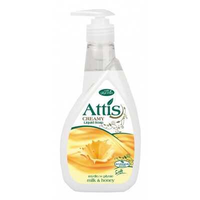 Mydło w płynie ATTIS GOLD DROP, 400 ml, białe, mleko i miód