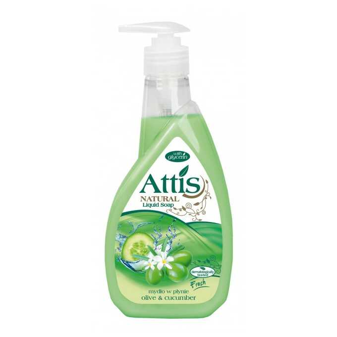 Mydło w płynie ATTIS GOLD DROP, 400 ml, zielone, ogórek i oliwka