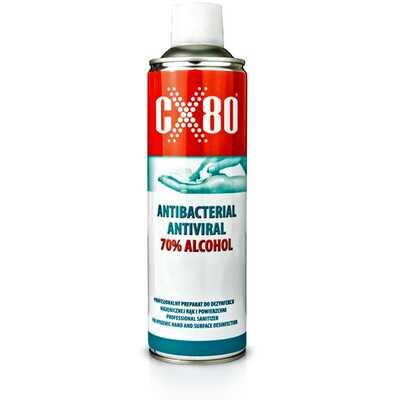 Płyn do dezynfekcji rąk CX80, wirusobójczy, bakteriobójczy w aerozolu 500 ml